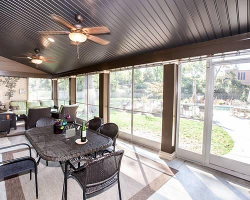 Mid Sized Craftsman Sunroom Idea Louis Standard Ceiling