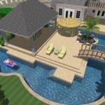 Middle Deck Swimming Pool Great Idea Bridge Over House Have