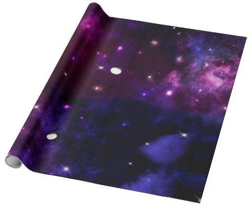 Midnight Blue Purple Galaxy Wrapping Paper Zazzle