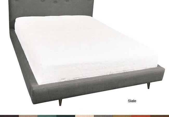 Milan Eastern King Upholstered Platform Bed Shipping Today