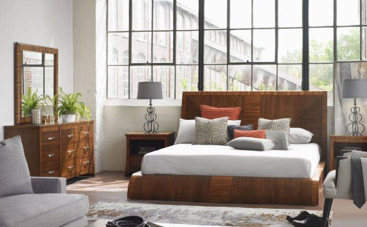 Milan Medium Brown Platform Bedroom Set Somerton Dwelling
