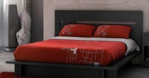 Milan Platform Bed Solid Black Home Style Pinterest