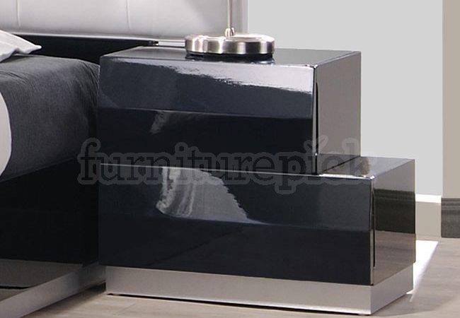 Milan Platform Bedroom Set Black Furniture Furniturepick