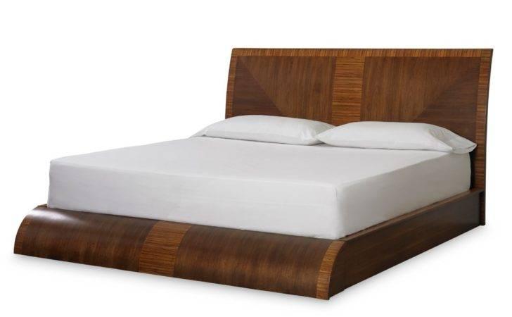 Milan Wood Platform Bed Medium Brown Somerton Dwelling Humble