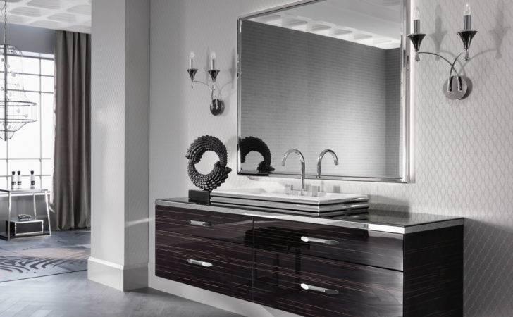 Milldue Hilton Ebony Wood Luxury Italian Bathroom Vanities