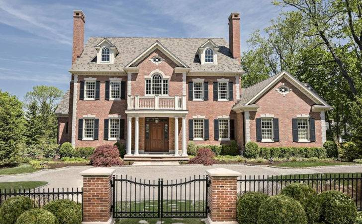 Million Georgian Colonial Brick Mansion Ridgefield