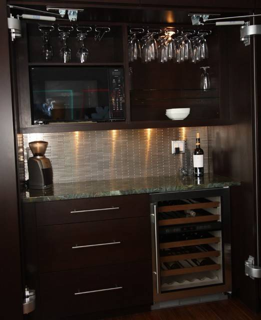 Mini Bar Contemporary Kitchen Cleveland Architectural