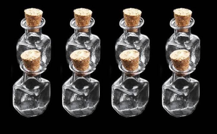 Mini Fancy Empty Glass Bottle Wishing Jars Vials Love Note Cubic