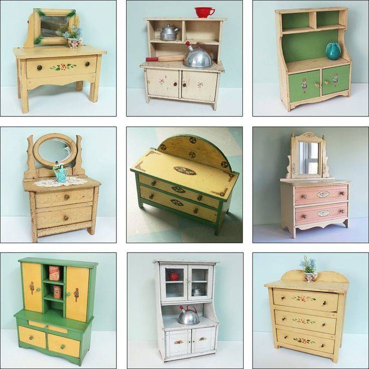 Miniature Furniture Dollhouse Mini Things Vintage Antiques