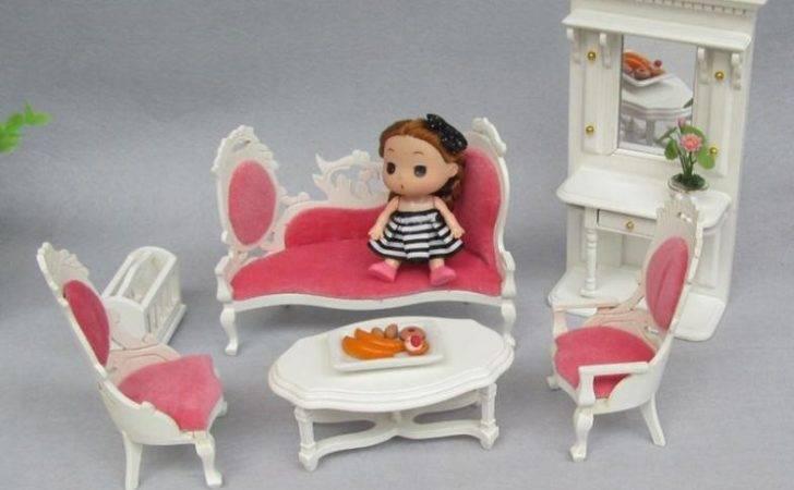 Miniature Luxury Children Toy Dollhouse Furniture Wooden Room Kids
