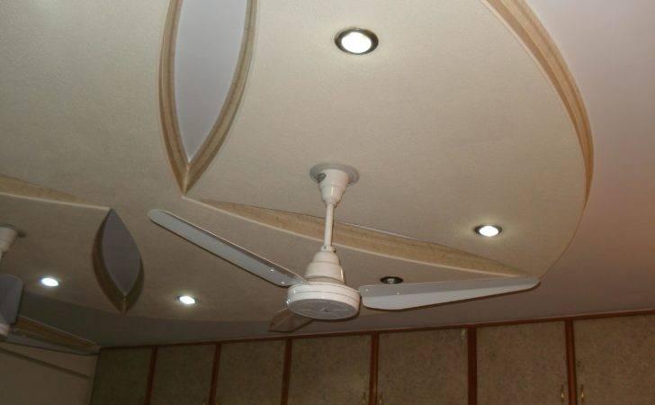 Minimal Pop Ceiling Design Fan Gharexpert