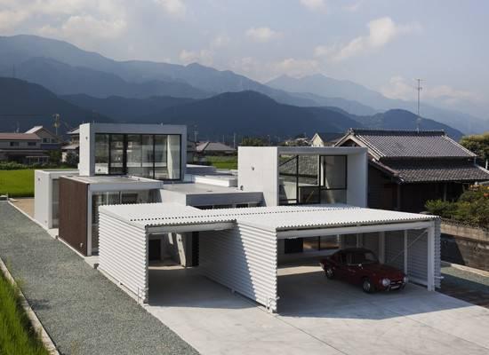 Minimalist House Design Consist Small Rectangular Blocks