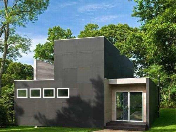 Minimalist House Design Noyack Creek Black Exterior