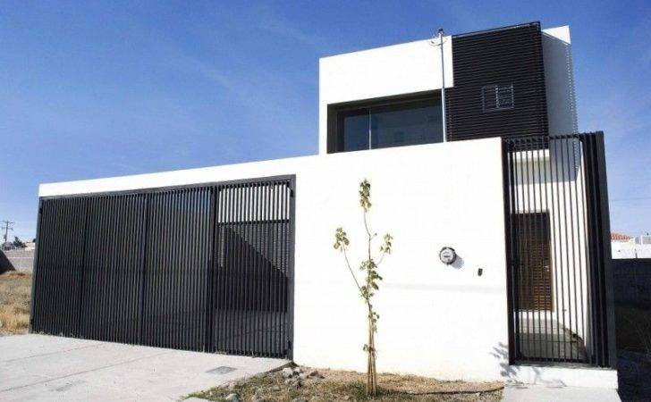 Minimalist House Fence Modern Design Home