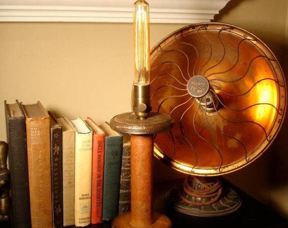 Minimalist Industrial Lighting Repurposed Upcycled Vintage Textile