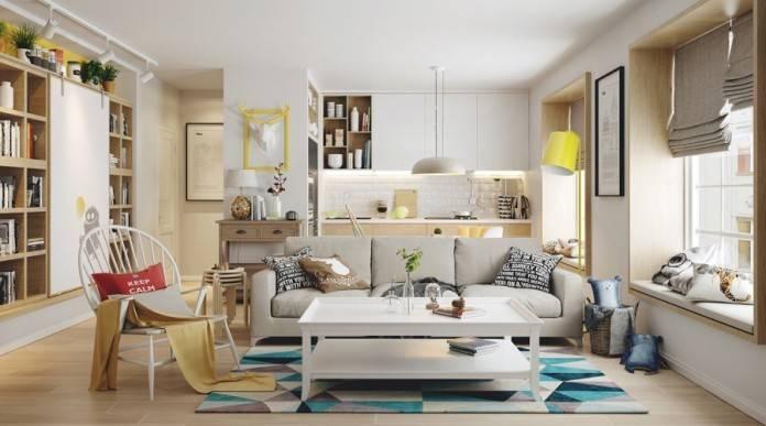 Minimalist Living Room Nordic Interior Design