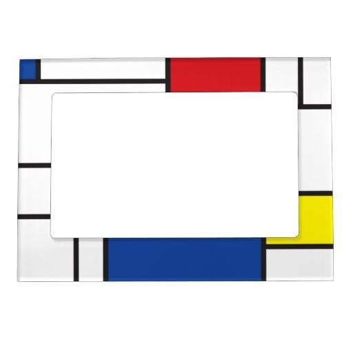 Minimalist Stijl Modern Art Frame Magnetic Zazzle