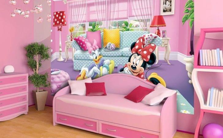 Minnie Daisy Girls Room Wall Mural