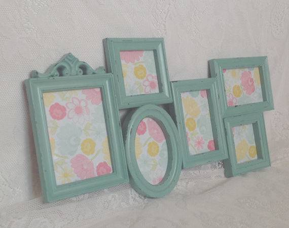 Mint Frame Collage Large Shabby Chic Wall
