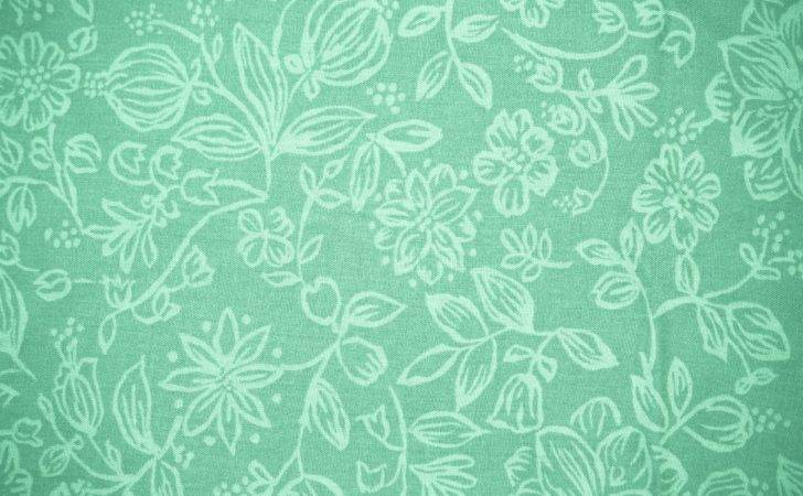 Mint Green Fabric Floral Pattern Texture High