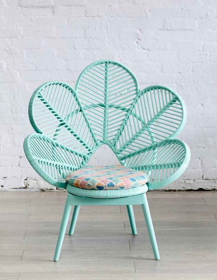 Mint Peacock Chair Love Tree