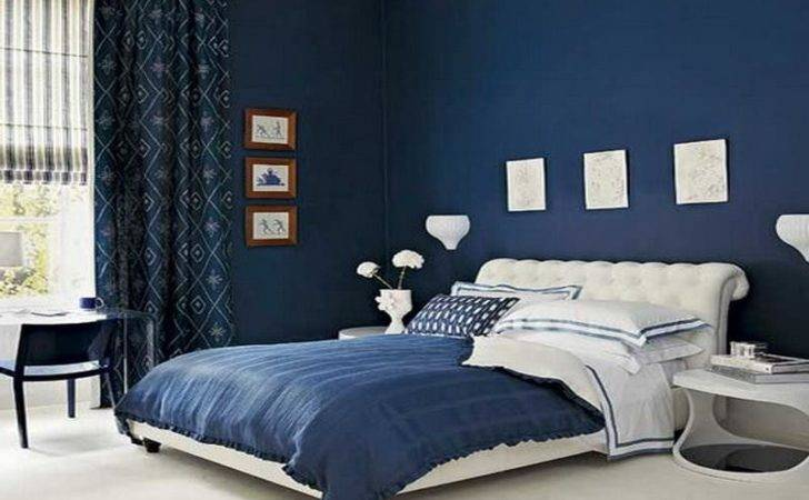 Miscellaneous Painting Bedroom Blue Shades Interior Decoration