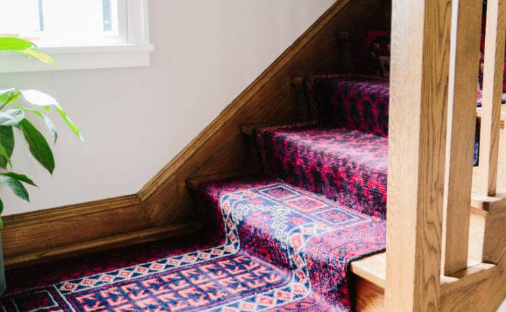 Mix Matched Patterns Diy Stair Runner Made Vintage Rugs Wit