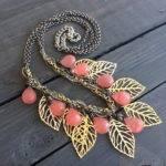 Mixed Metal Statement Necklace Modern Jewelry Colorwayjewelry
