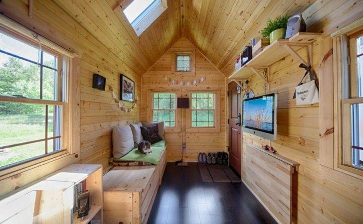 Mobile Tiny Tack House Entirely Built Hand Looks Gorgeous