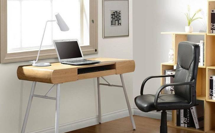 Mobili Rta Semi Assembled Contemporary Computer Desk Pine