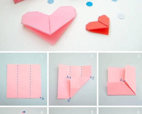 Moda Tasar Tekstil Origami Kalp