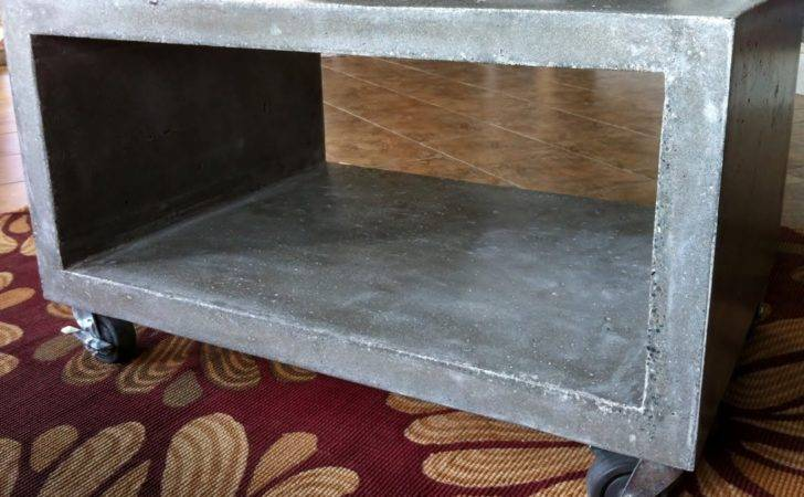Mode Concrete Heavy Boy Coffee Table Modern Minimalistic