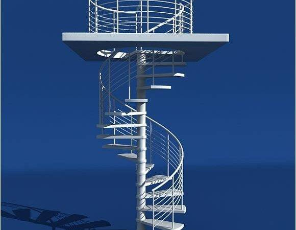 Model Modern Spiral Staircase