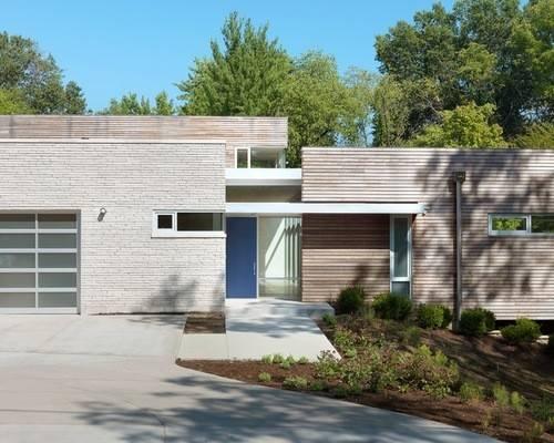 Modern Adobe Thin Brick Veneer Home Design Ideas Photos