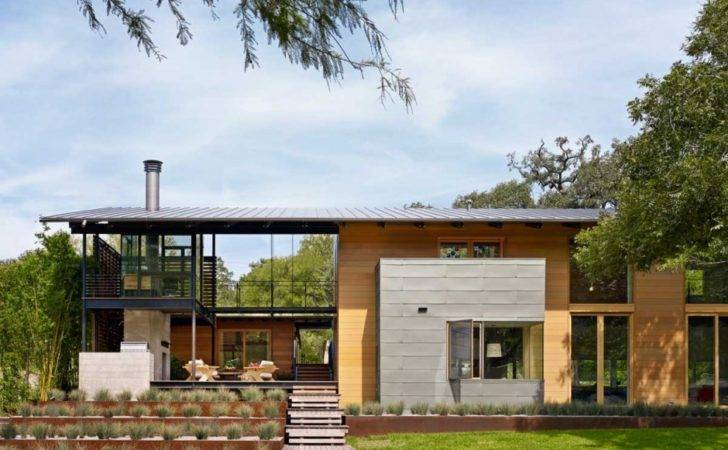 Modern Architecture Strong Connection Nature Hog Pen Creek