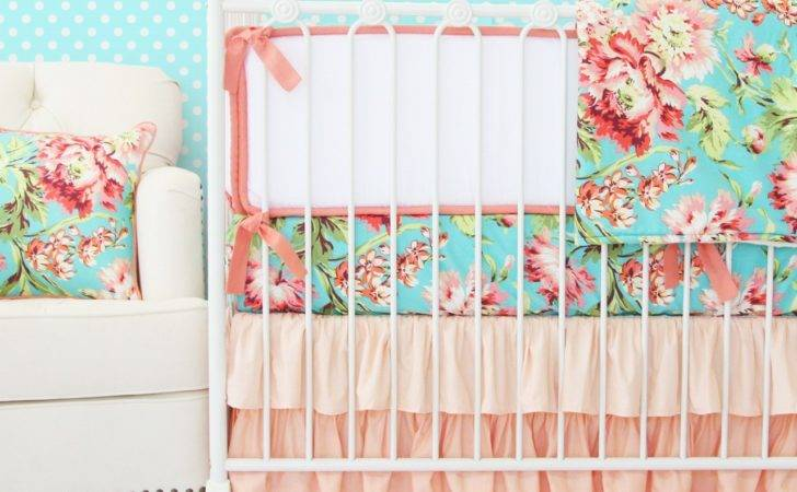 Modern Baby Bedding Sets Coral Crib Rail Covers Moms Wanting