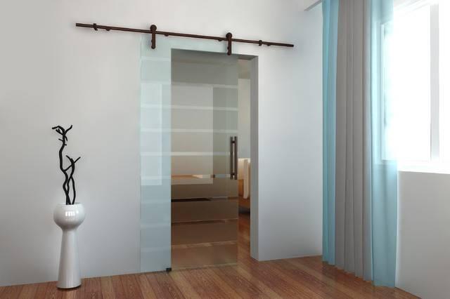 Modern Barn Door Hardware Glass Contemporary