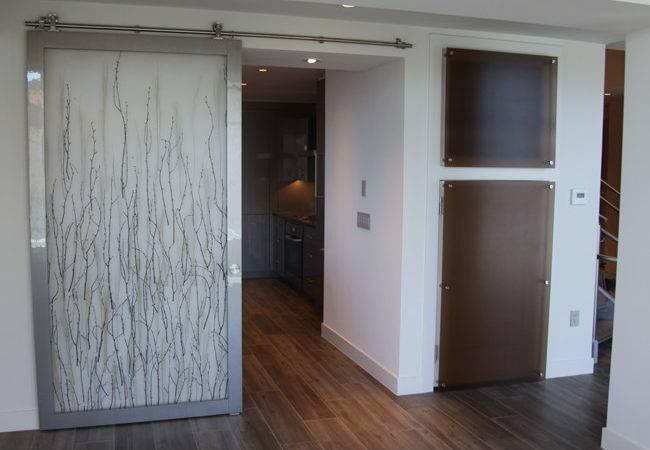 Modern Barn Door Using Form Resin Panels