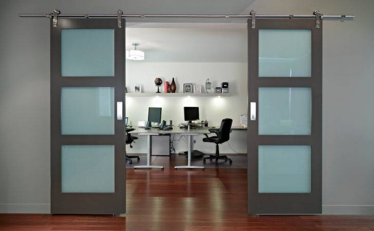 Modern Barn Doors Home Office Contemporary None