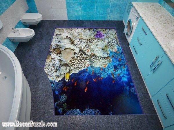Modern Bathroom Floor Murals Designs Self Leveling Floors