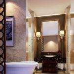 Modern Bathroom Wooden Partition