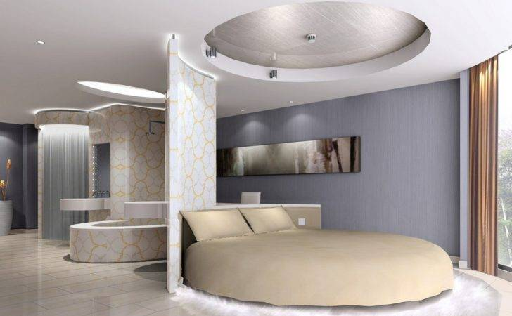 Modern Bedroom Round Bed House