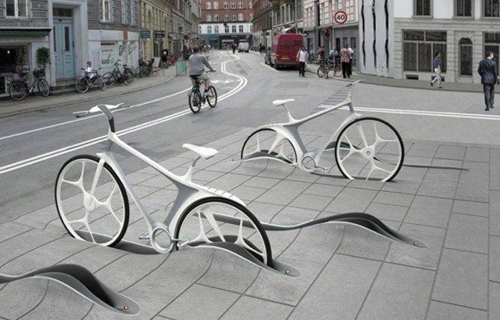 Modern Bike Racks Pavement Pinterest