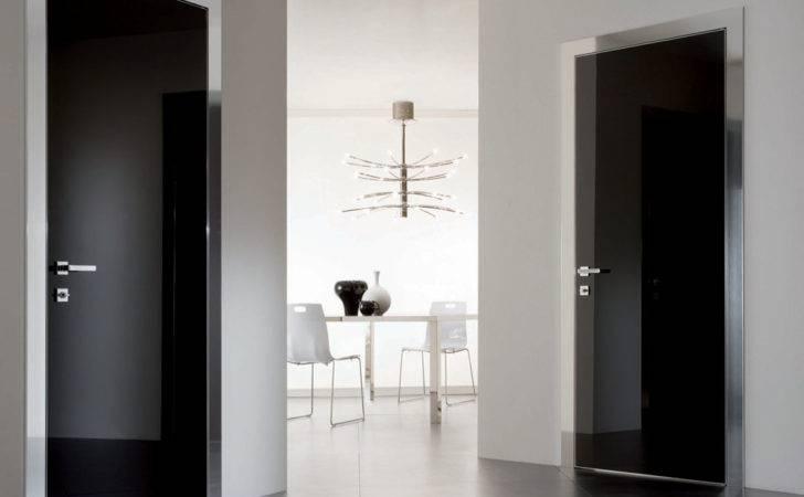 Modern Black Interior Door Segno Movi Chicago