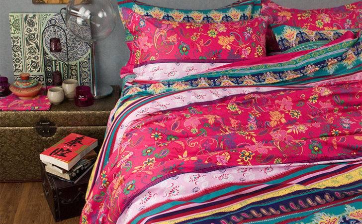 Modern Boho Style Bedding Set Elegant Colorful Rainbow