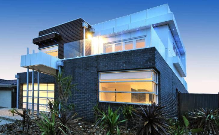 Modern Brick Facade House Exterior
