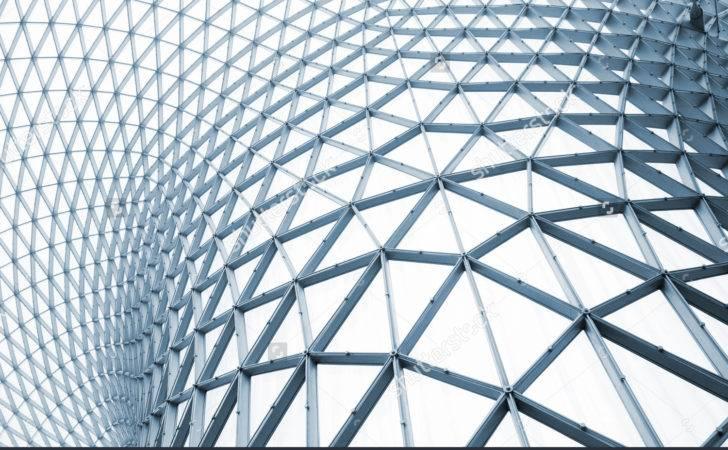 Modern Building Curving Roof Glass Steel Column