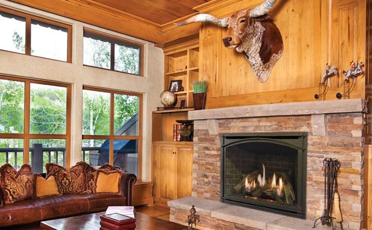 Modern Carlton Gas Fireplace Made Kozyheat Featuring Rustic