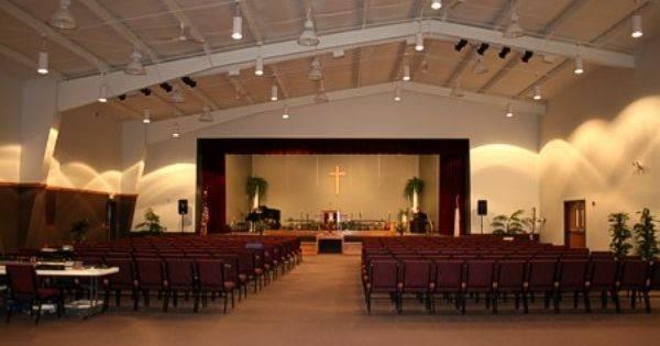 Modern Church Sanctuary Decor Small Baptist