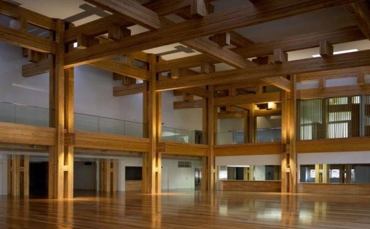 Modern City Hall Interior Yusuhara Town Design